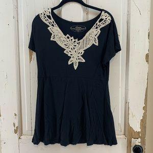 Soma Loungewear Black with Lace Trim